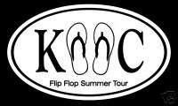 Kenny Chesney Flip Flop Summer Oval Decal Sticker