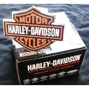 Harley Davidson Premium Hitch Cover   Black/Orange