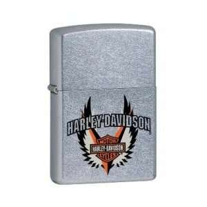 Zippo Lighter Harley Davidson Burst, High Polish Chrome