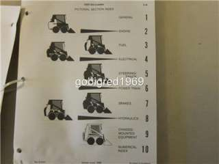 1988 Case 1825 Uni Loader Skid Steer Parts Catalog Manual LOTS More