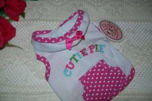 Puppy Dog Hoodie Lulu Pink CUTIE PIE Lu Lu XS S M new pet shirt