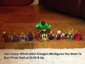 Minifigures   YOUR CHOICE   Marvel Super Heroes Iron Man Hulk Thor