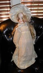 ANTIQUE? BRU JNE 10 1969 NEYA PORCELAIN VICTORIAN DOLL W/CLOTHING