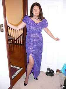 Gently Worn Night Moves Purple Sequin Gown 10