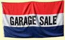 GARAGE SALE Banner Sign Flag Yard Moving Tag Rummage