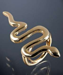 Kenneth Jay Lane gold plated snake ring