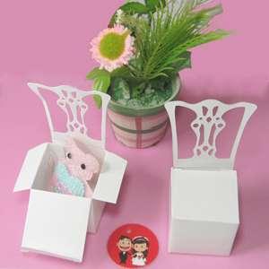 Dark Pink Satin Sash Chair Bow Wedding Party Banquet