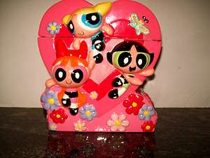 CARTOON NETWORK POWERPUFF GIRLS COOKIE JAR, MINT, NEVER USED