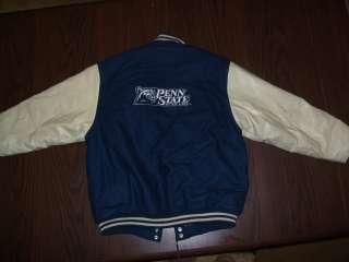 Vtg Penn State Nittany Lions blue embroidered wool varsity jacket, 16