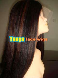 20 100% Indian Remi Human Hair Lace wigs   YAKI STRAIGHT   Fast