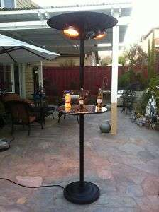 Electric Patio Heater Outdoor Free Stand Infrared Radiant w/20 in