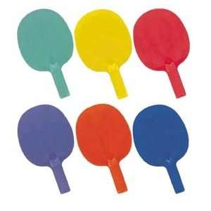 Economy 6 Color Table Tennis Paddle Set