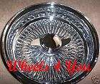 13 LOWRIDER SPOKE WHEELS Chrome Knockoff Wire Rims NEW