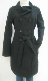 NEW GUESS BELTED TRENCH RAIN COAT, JACKET, BLACK, SMALL, NWT, MP456