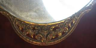 Antique Dresser Vanity Mirror Tray Perfume Plateau German Bronze