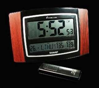 Sharp Wireless Indoor/Outdoor Thermometer & Huge Atomic Clock NIB